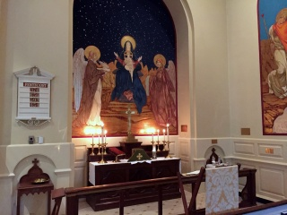 Lady Chapel Altar for Healing Service