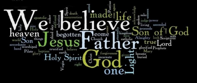 Nicene Creed Word Cloud
